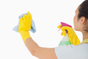 Cleaning office walls
