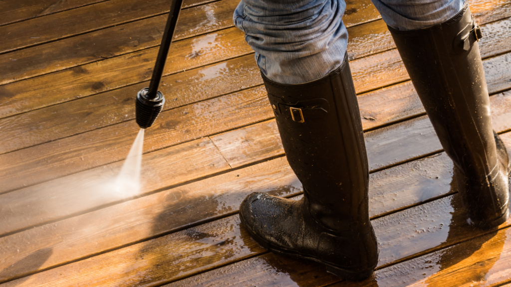 Cleaning your outdoor space